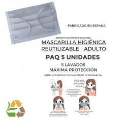 Mascarilla Reutilizable - 5 Lavados - Adulto - 50