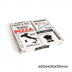 Caja Pizza CARTÓN Vesubio 40x40x3,5cm. /50