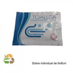 Toallita Gel Hidroalcólico 70% - 6x8cm - 500uds