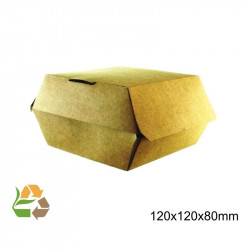 Caja Hamburguesa Grande KRAFT eco /500
