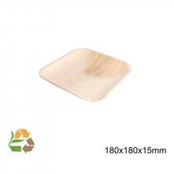 Plato Cuadrado Hoja de Palma - 180x180 mm -