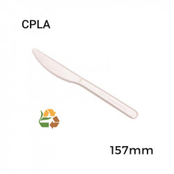 Cuchillo Blanco Compostable - 157mm - 50 - 1000