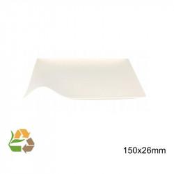 Plato Ondulado - 150x150x9mm - Caña Azúcar