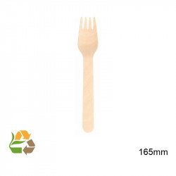 Tenedor Madera 16.5 cm -100
