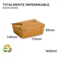 Caja Pagoda Kraft - Med - 170x140x65mm - 50 - 300