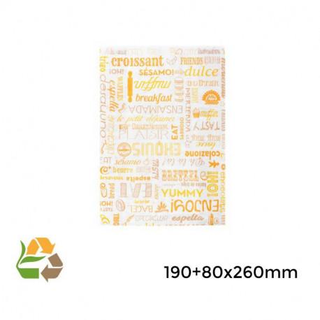 """Bolsa croissants """"Parole"""" - 19+8x26cm - 4000"""