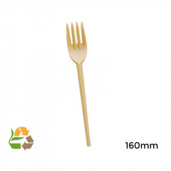 Tenedor compostable - 160mm - 100 - 1000