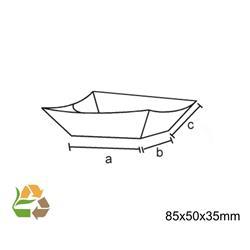 Barqueta PAPEL KRAFT 135X100X23mm./220ml. /1000