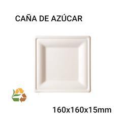 Plato BIO Cuadrado - Pequeño - 160x160x15mm