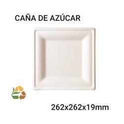 Plato BIO Cuadrado - Grande - 262x262x19mm