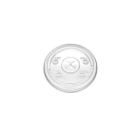 Tapa plana PLA 3 OZ Trt - 100 - 3000