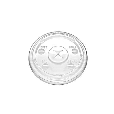 Tapa plana PLA 9 OZ Trt - 100 - 1000