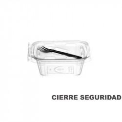 Envase bisagra PET 350 cc con tenedor